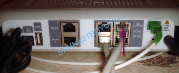 Подключаем Ethernet-кабель к маршрутизатору